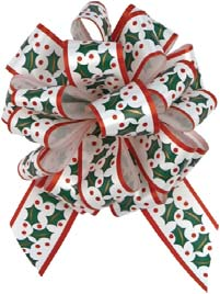 Christmas Holly Perfect Pull Bows GIAB a classy way to wrap ypur gift in a balloon