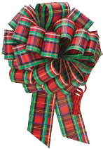 Christmas Plad Pull Bow